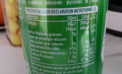 Green tea lime mint - Informations nutritionnelles - fr