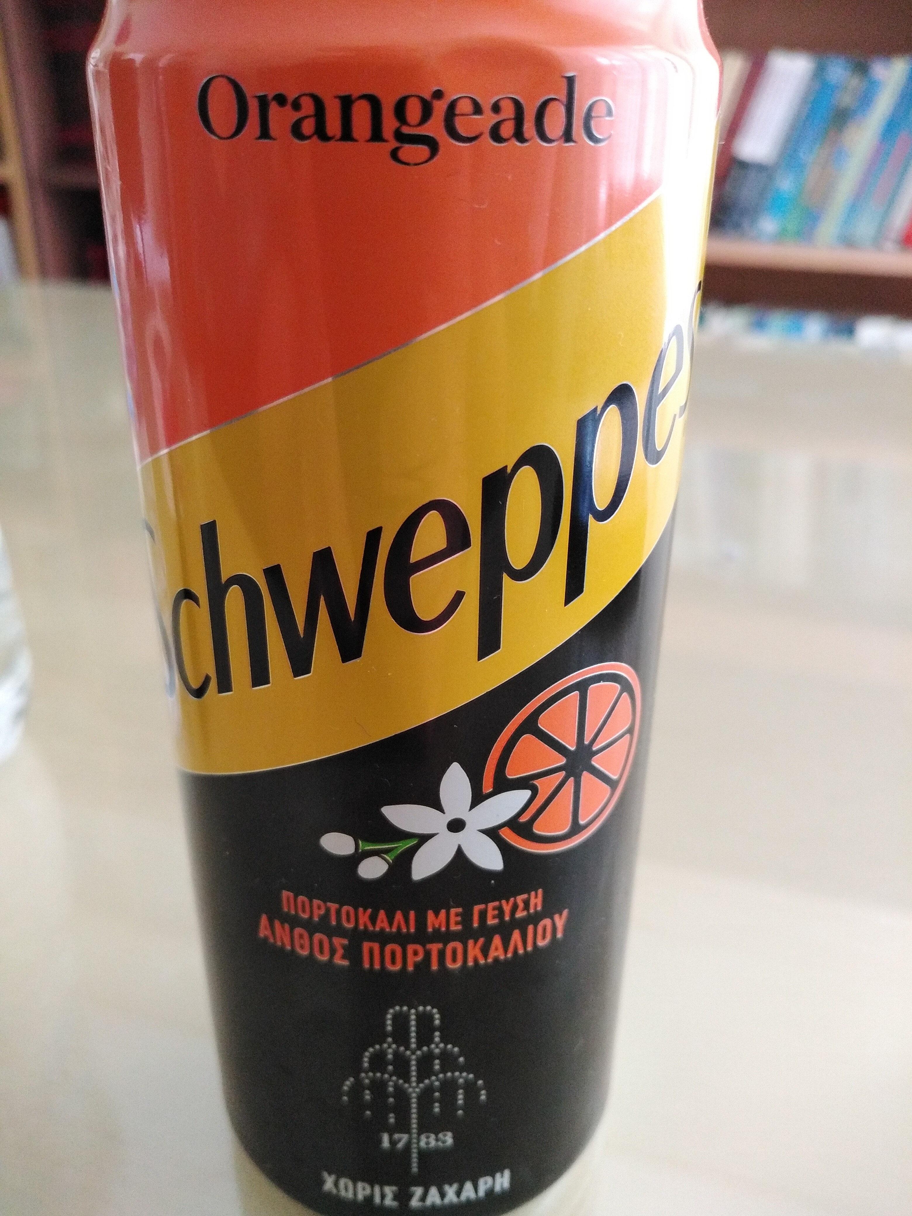 Schweppes πορτοκαλάδα με γεύση ανθός πορτοκαλιού - Produit - el