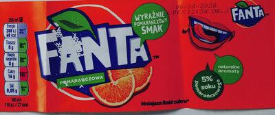 Napój gazowany o smaku pomarańczowym - Produkt