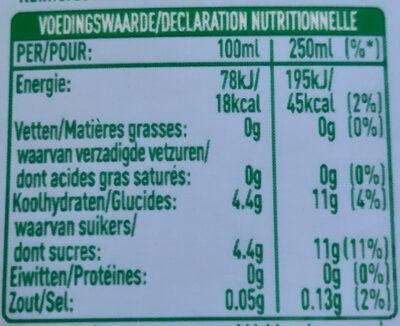 Infused iced tea, green tea, blueberry, jasmine - Nutrition facts - nl