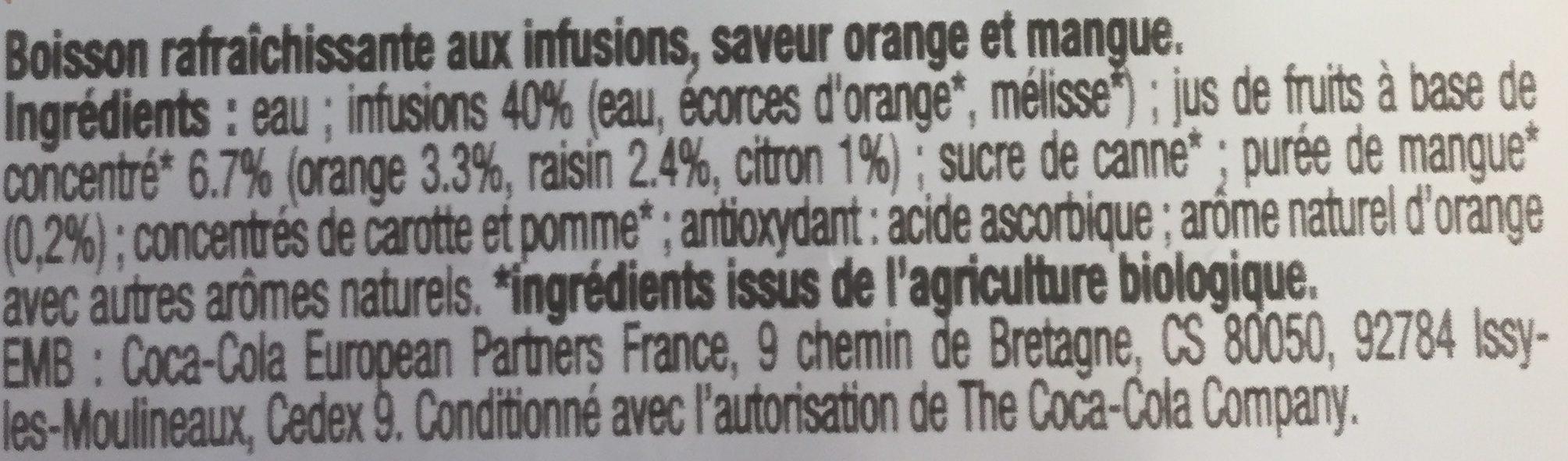 Honest Infusion Bio - Ingredients - fr