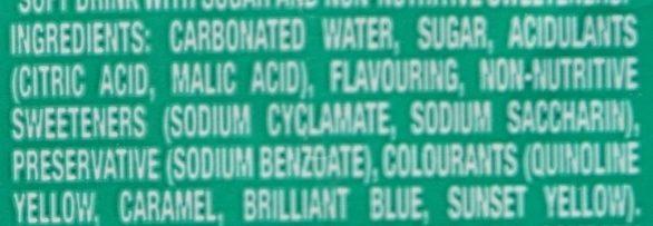 Creme soda - Ingredients