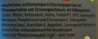 Cola Lemon Light - Ingredients - de
