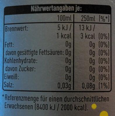 Cola Lemon Light - Nutrition facts - de