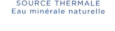 eau minerale naturelle source thermale - Ingrédients - fr
