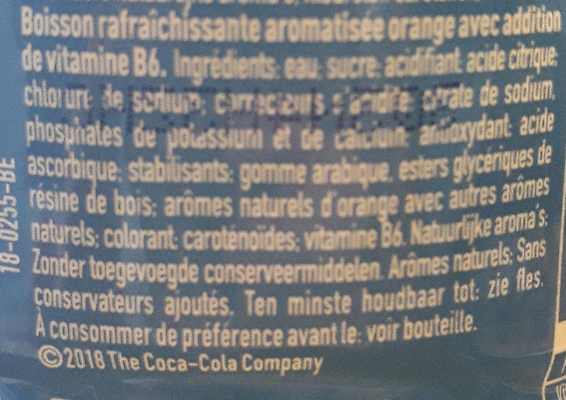 Aquarius orange - Ingredients - fr
