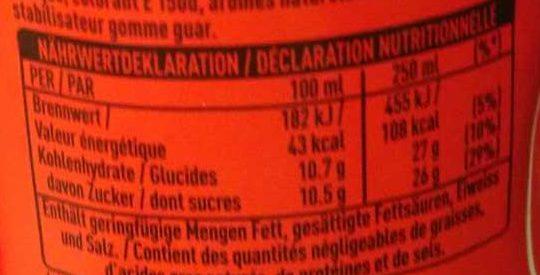 Cola küsst orange - Valori nutrizionali - fr