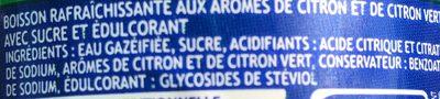 Napój gazowany o smaku cytrynowo-limonkowym - Ingrédients