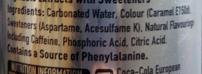 Diet Coke - Ingredienti - en