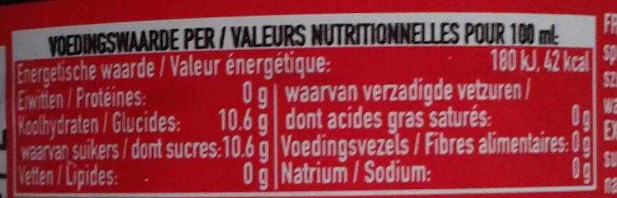 Boisson rafraîchissante aux extraits végétaux - Nutrition facts