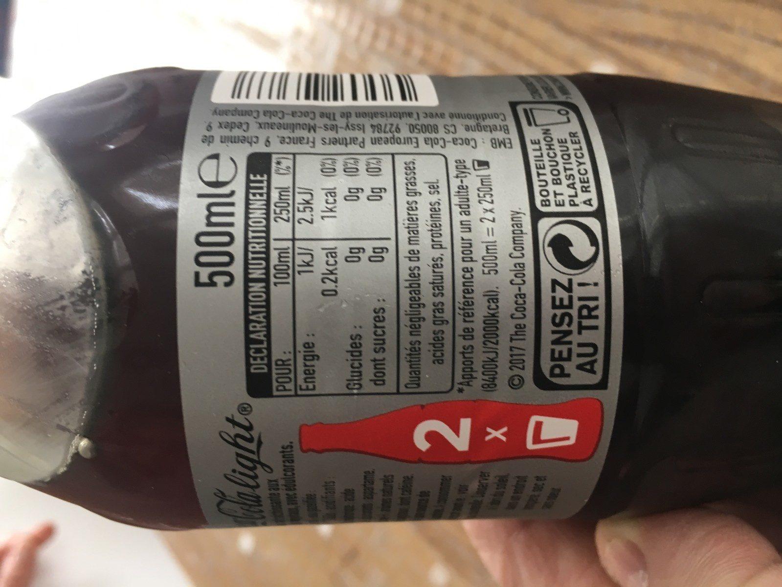 Coca cola light - Ingrédients