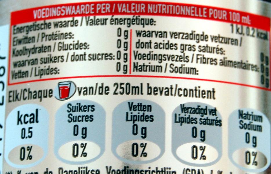 Coca cola light - Informations nutritionnelles