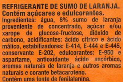 Fanta Laranja - Ingredientes - pt