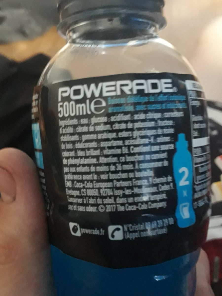 Powerade goût Ice Storm - Ingredientes