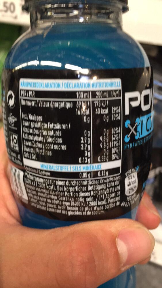 Powerade goût Ice Storm - Informations nutritionnelles