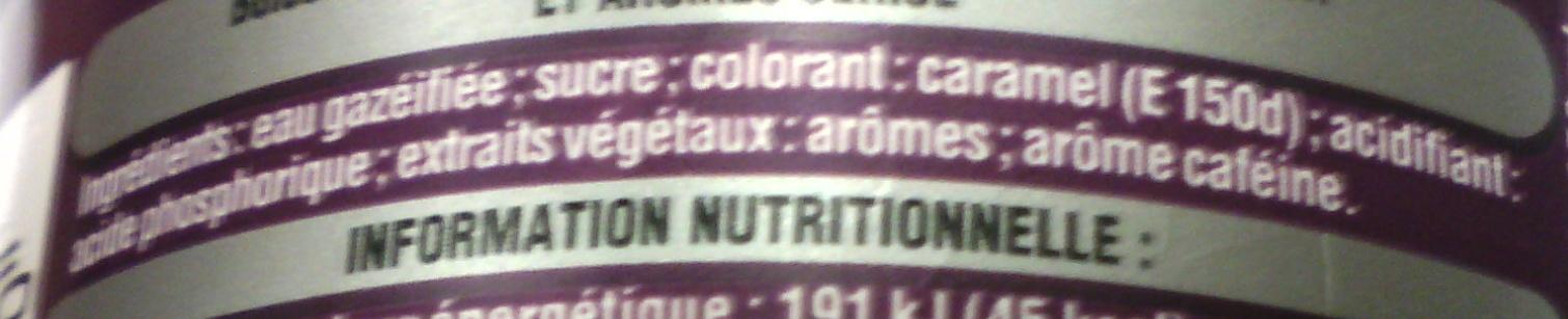 Coca-Cola cherry - Ingredienti - fr