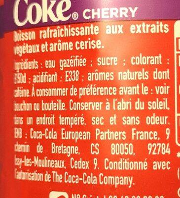 Cherry goût original, saveur cerise - Ingredients - fr
