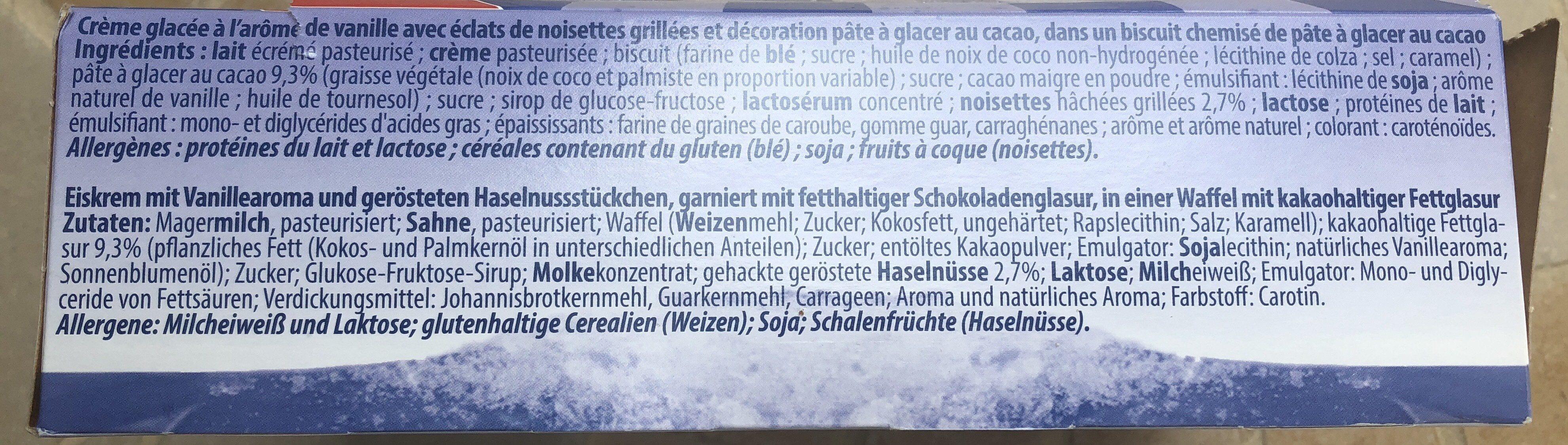 Cornet - Ingredienti - fr