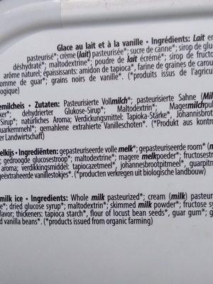 Glace a ka vanille bio - Ingredienti - fr