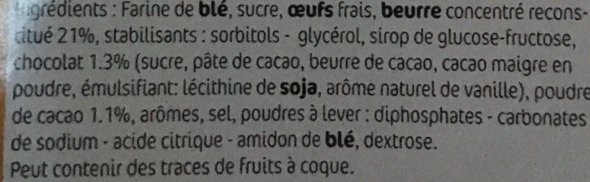 Etoiles marbrées - Ingrédients - fr