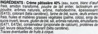 6 Mini Chinois à la Crème Pâtissière - Ingrédients - fr