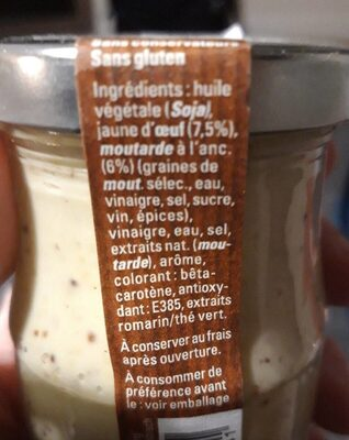 Mayonnaise de Luxembourg - Nutrition facts - fr