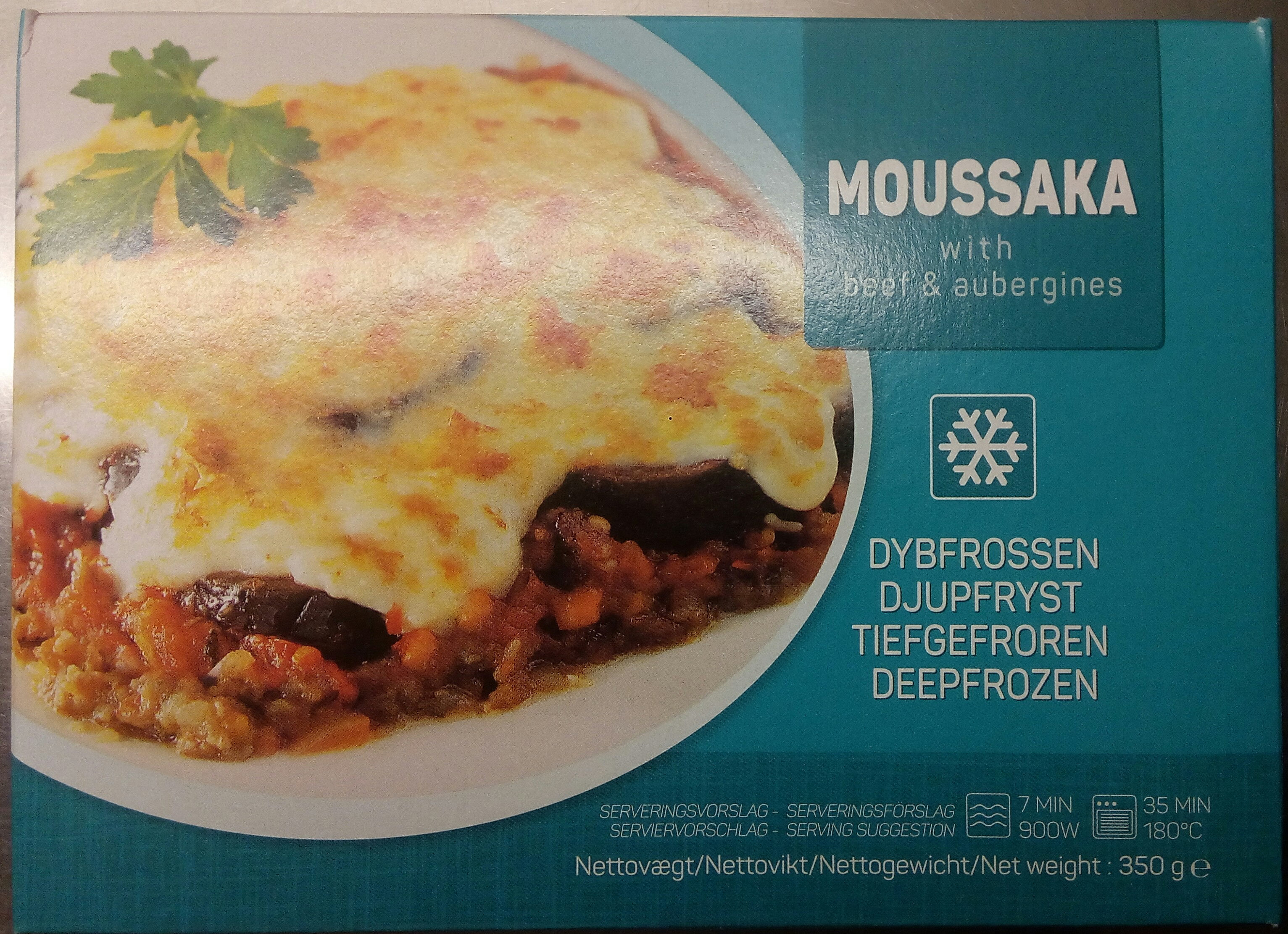 Moussaka with beef & aubergines - Produit