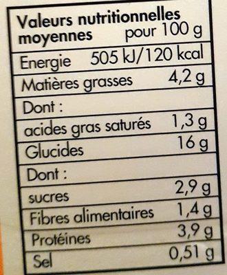 Boulettes au Bœuf, Sauce aux Légumes et Riz - Informations nutritionnelles - fr