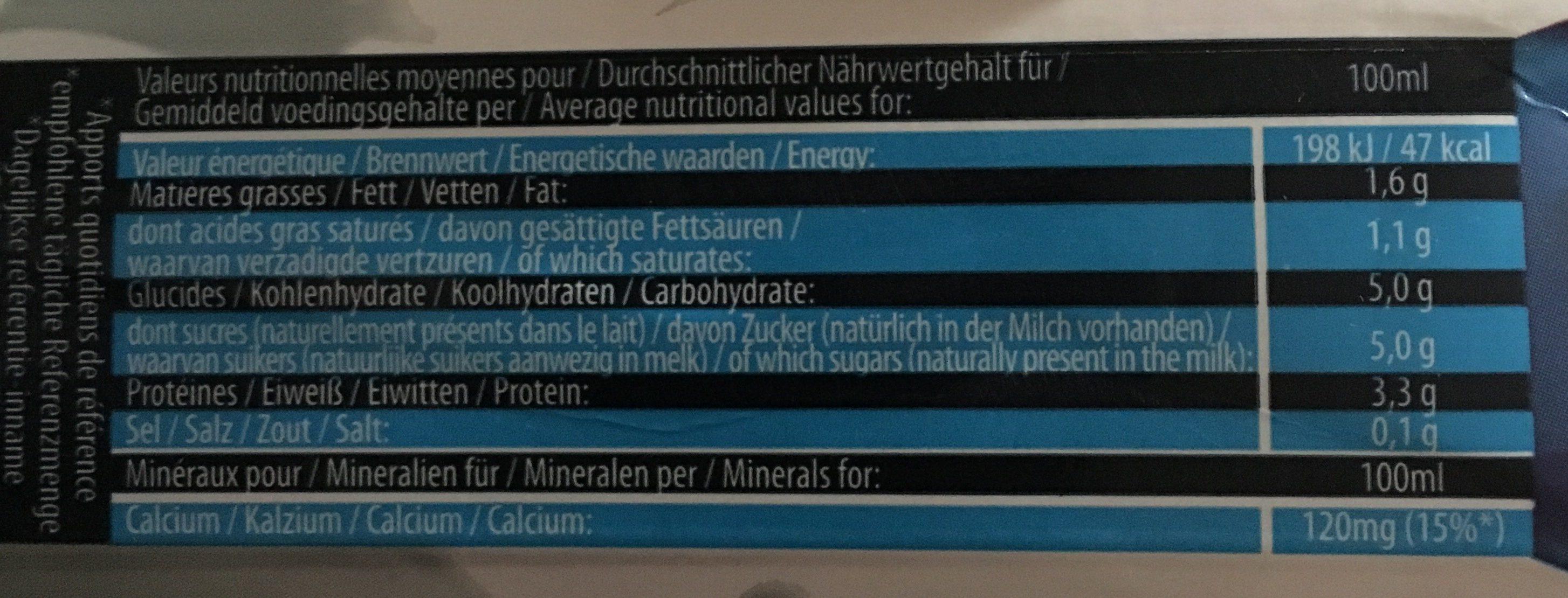 Luxlait - Ingredienti - fr