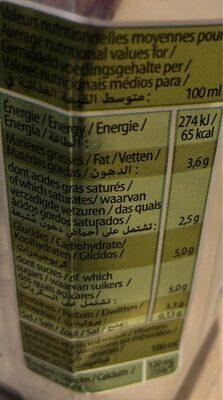 Luxlait - Valori nutrizionali - en