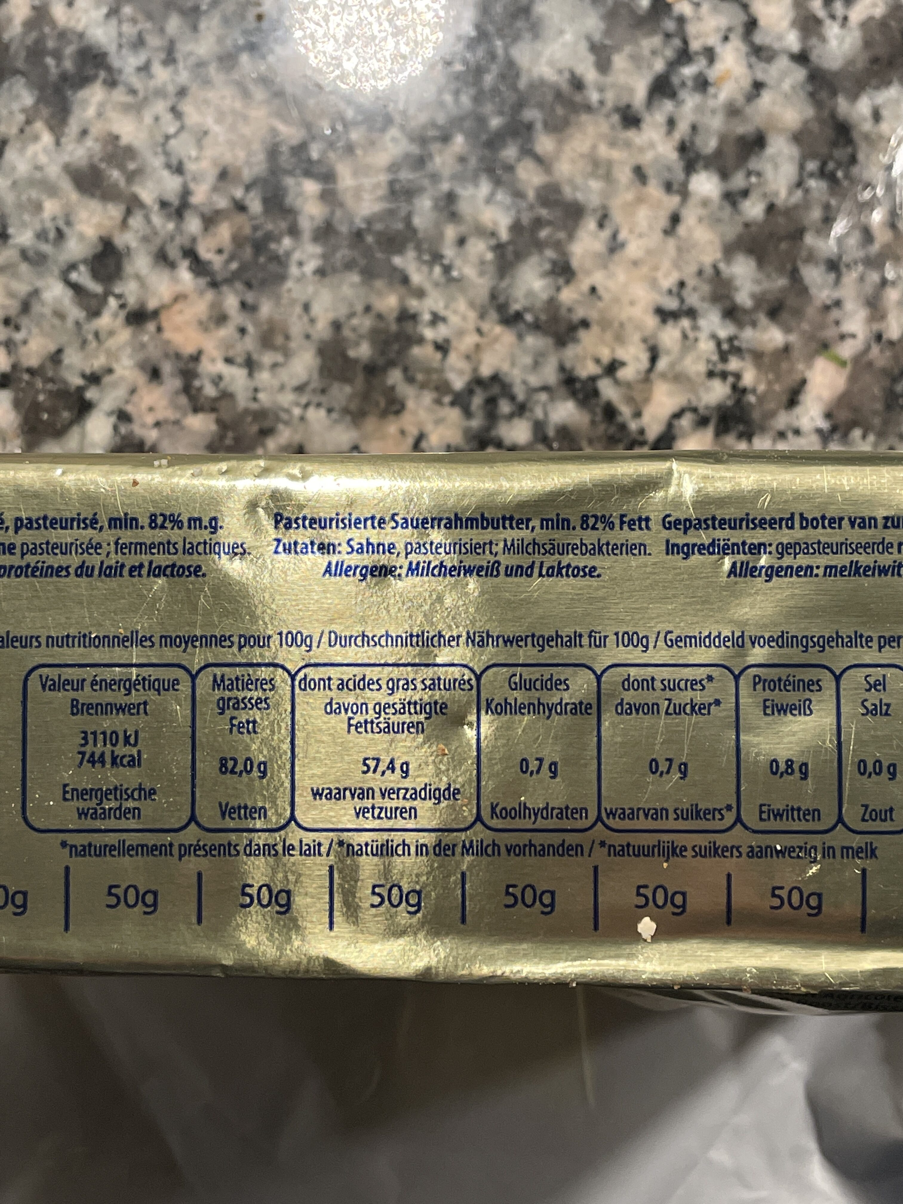 Beurre Rose - Valori nutrizionali - fr