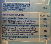 Crème - Valori nutrizionali - fr
