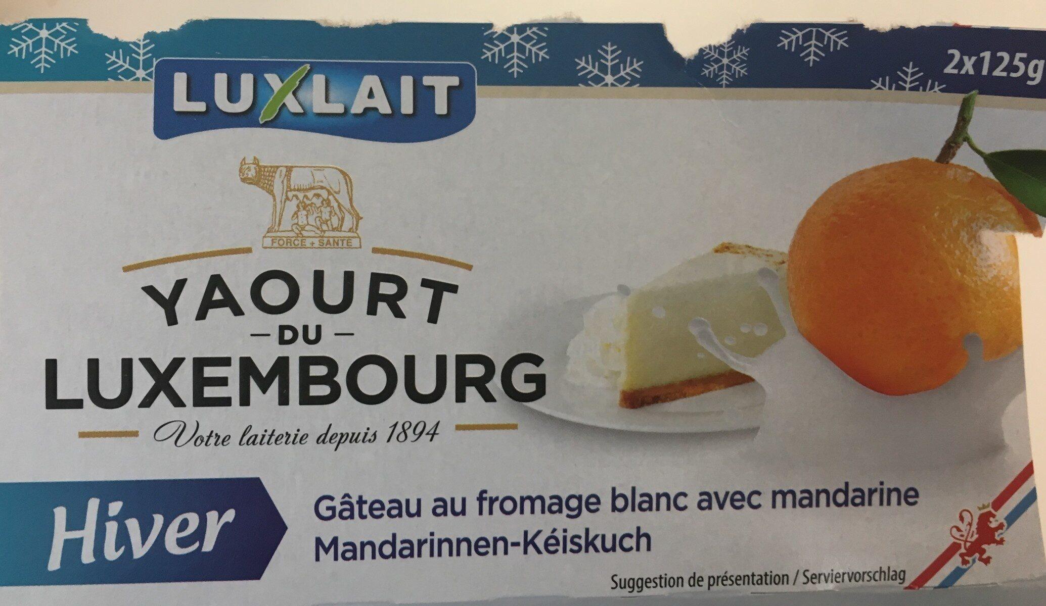 Yaourt du Luxembourg Fromage blanc avec mandarine - Prodotto - fr