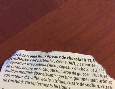 Yaourt Luxembourg stracciatella - Ingredienti - fr