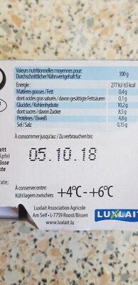 Yaourt du Luxembourg  muesli - Valori nutrizionali - fr