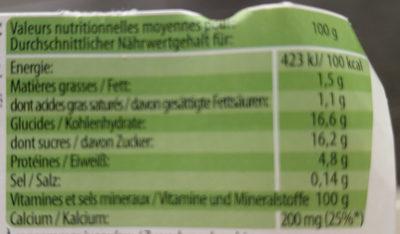 Yaourt - Ingredienti - fr