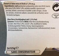 Yaourt du Luxembourg - Ingredienti - fr