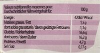 Yaourt du Luxembourg - Valori nutrizionali - fr