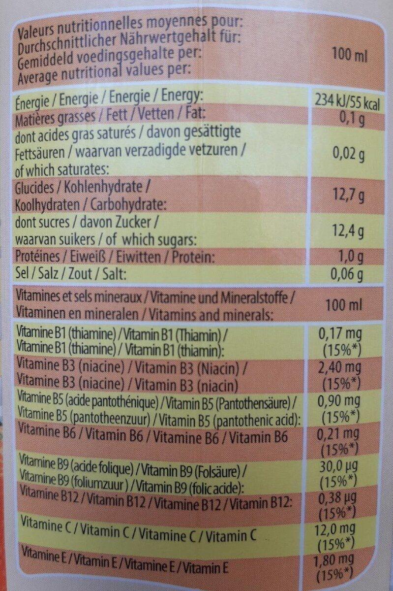 Funny Orange 0.75L - Informations nutritionnelles - fr