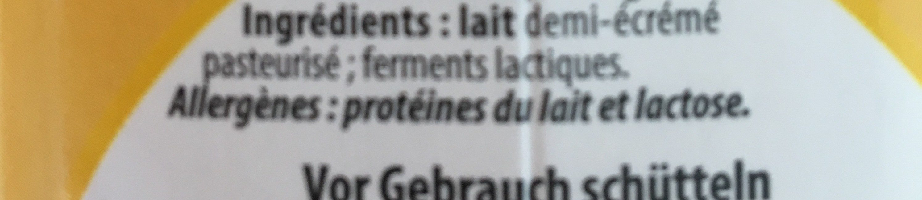 Lait fermenté - Ingrediënten - fr