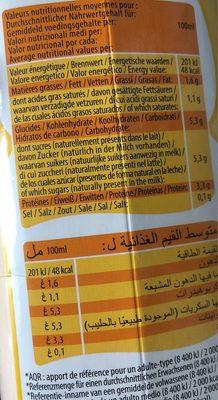 Lait fermenté - Voedingswaarden - fr
