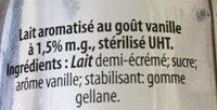 Vanilla milk - Ingrédients