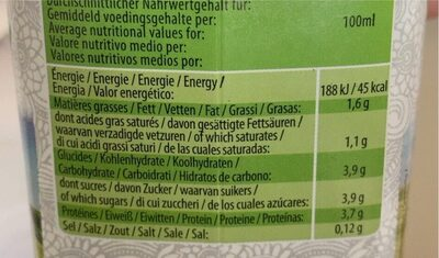 Kefir - Valori nutrizionali - fr