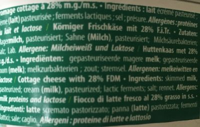 Cottage Cheese - Ingredients