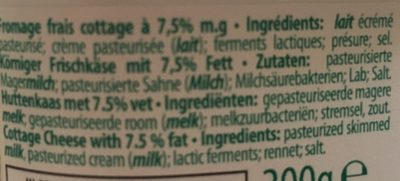 Cottage Cheese - Ingredients - fr