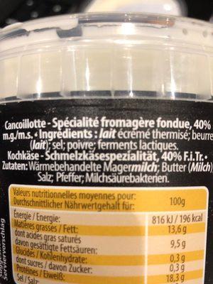Cancoillotte - Ingrediënten