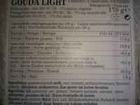 Gouda Light, Luxlait - Voedingswaarden - fr