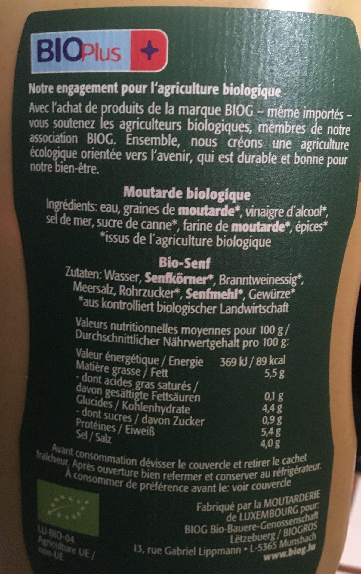 Moutarde - Ingredients - fr