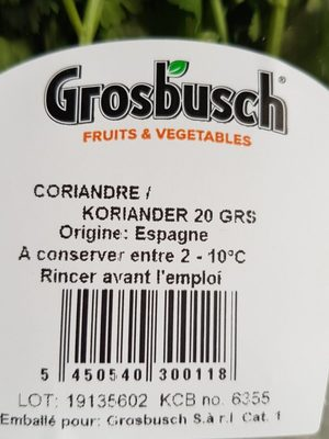 Coriandre - Ingrédients - fr