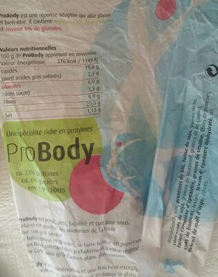 Probody - Ingrediënten - fr